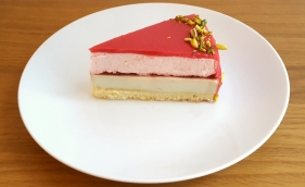 Strawberry and Pistachio Entremet