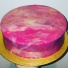 Blackberry Entremet with Elderflower Bavarois Insert and Mirror Glaze